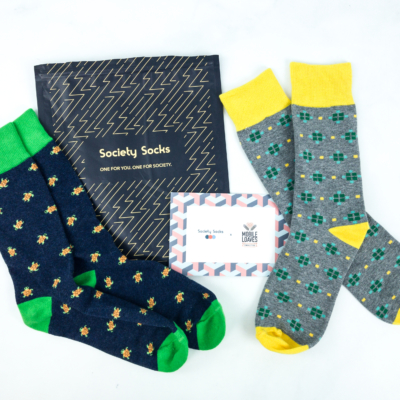 Society Socks June 2019 Subscription Box Review + 50% Off Coupon