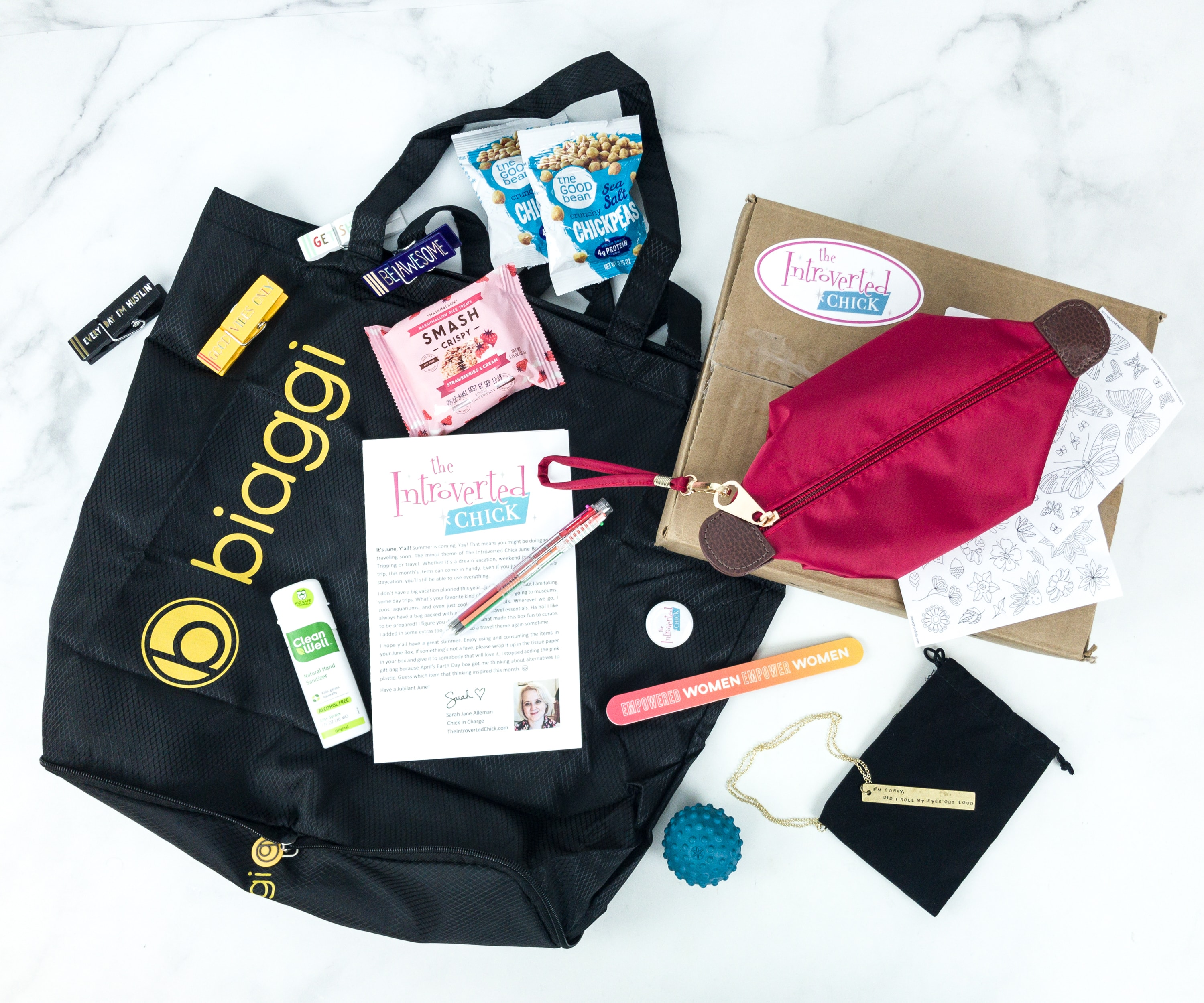 The Introverted Chick June 2019 Subscription Box Review + Coupon