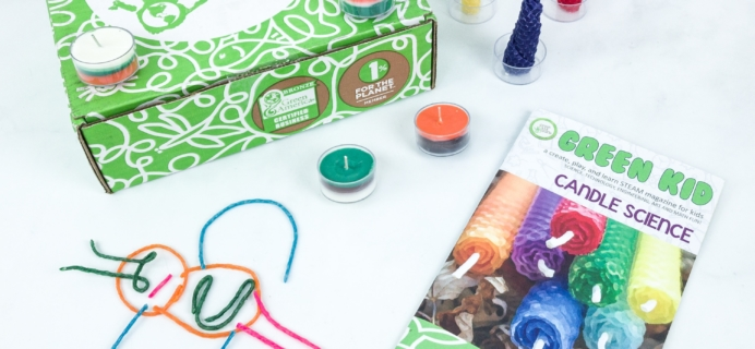 Green Kid Crafts CANDLE SCIENCE Subscription Box Review + 50% Off Coupon!