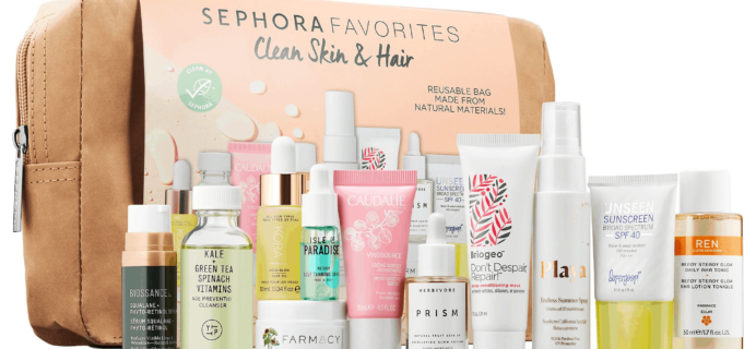 New Sephora Kit Available Now + Coupons – Clean Skin and Hair Set!