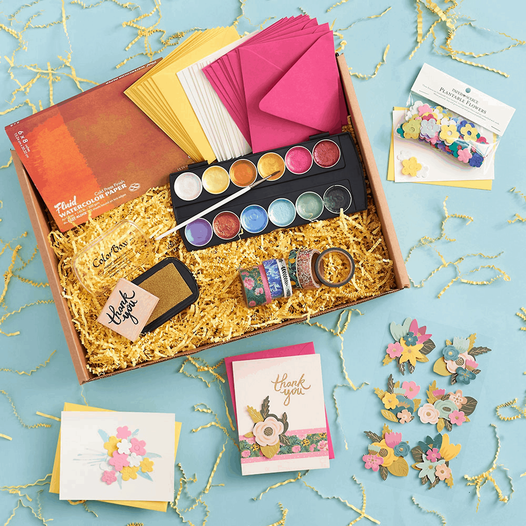 Paper Source Watercolor Floral Creativity Box Available Now + Full Spoilers!