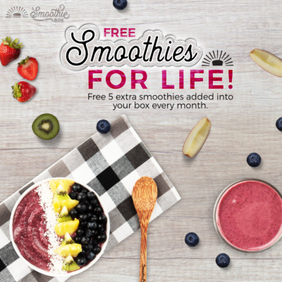 SmoothieBox Sale: Get FREE Smoothies For Life + FREE Shipping!!