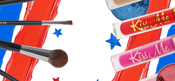LiveGlam MorpheMe + KissMe + ShadowMe Fourth of July Sale: Get FREE Lippies OR Brushes!