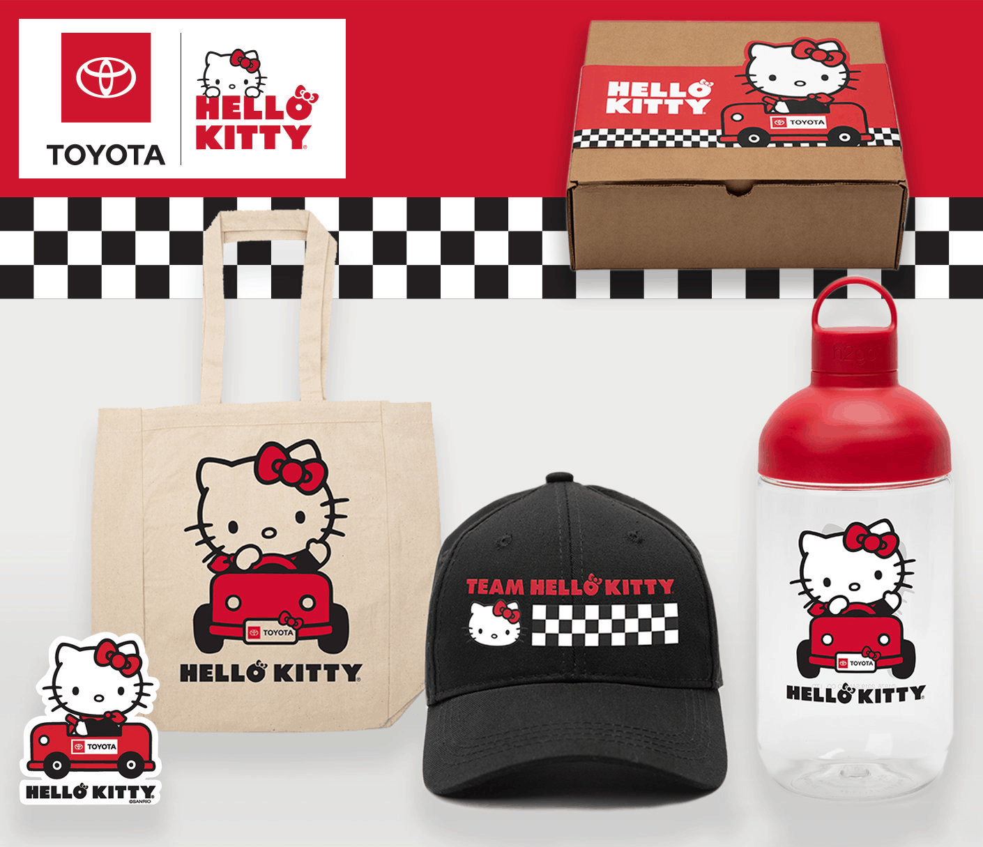 Toyota x Hello Kitty Big Smile Gift Box Available Now!