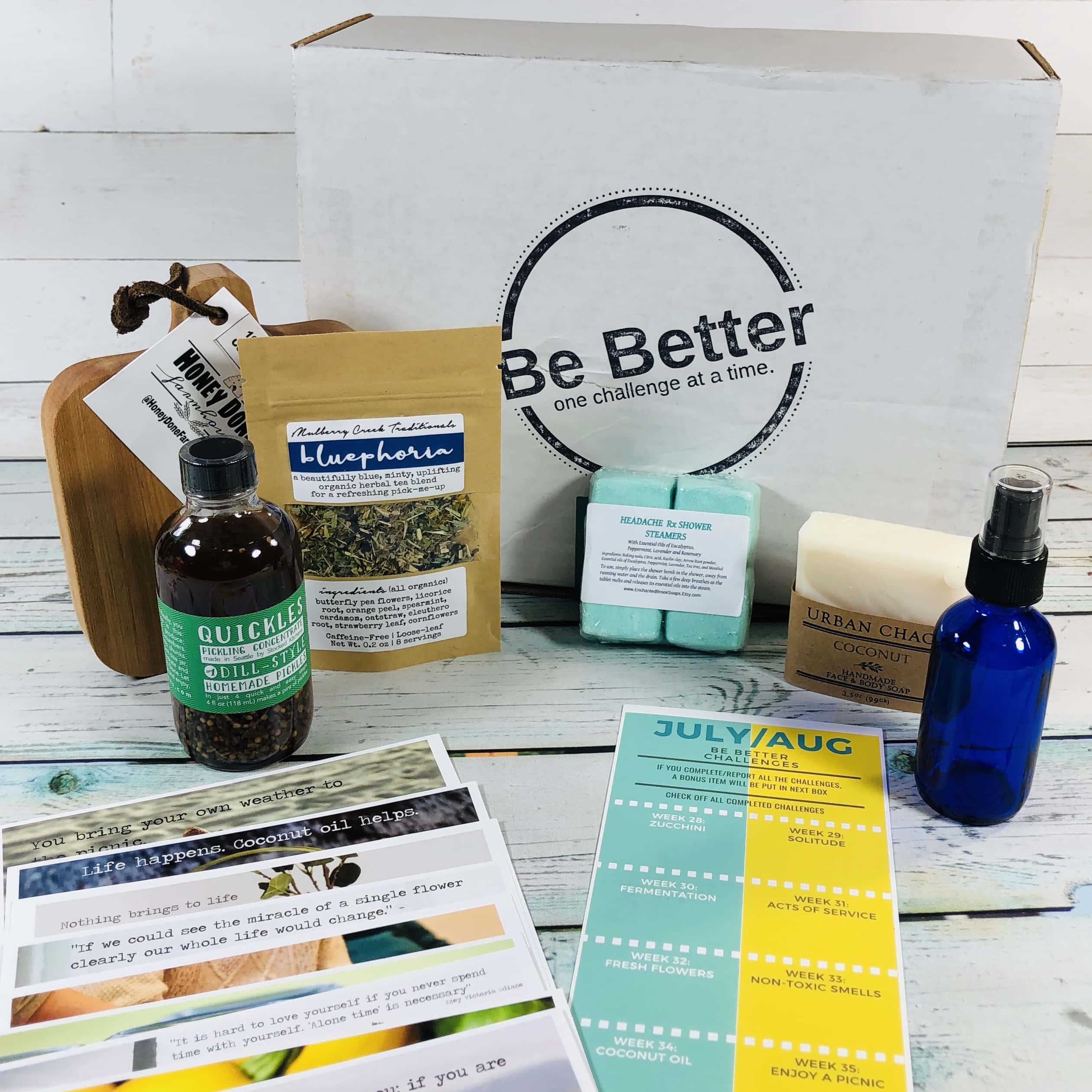 My Be Better Box July-August 2019 Subscription Box Review