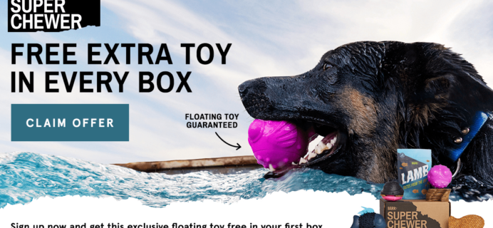 Super Chewer Coupon: Get FREE Bonus Toy Every Month!