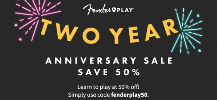 Fender Play Anniversary Sale: Get 50% Off & More!