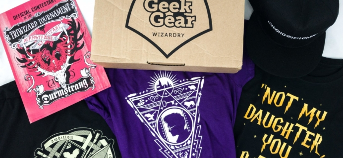 Geek Gear World of Wizardry Wearables June 2019 Subscription Box Review & Coupon