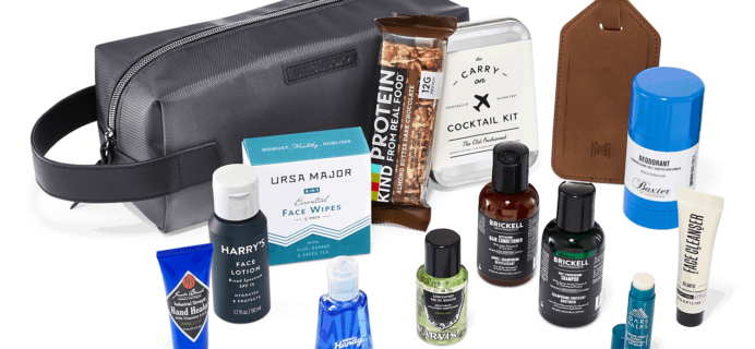 New Birchbox Man Limited Edition Box: Getaway Grooming Bag + Coupons!