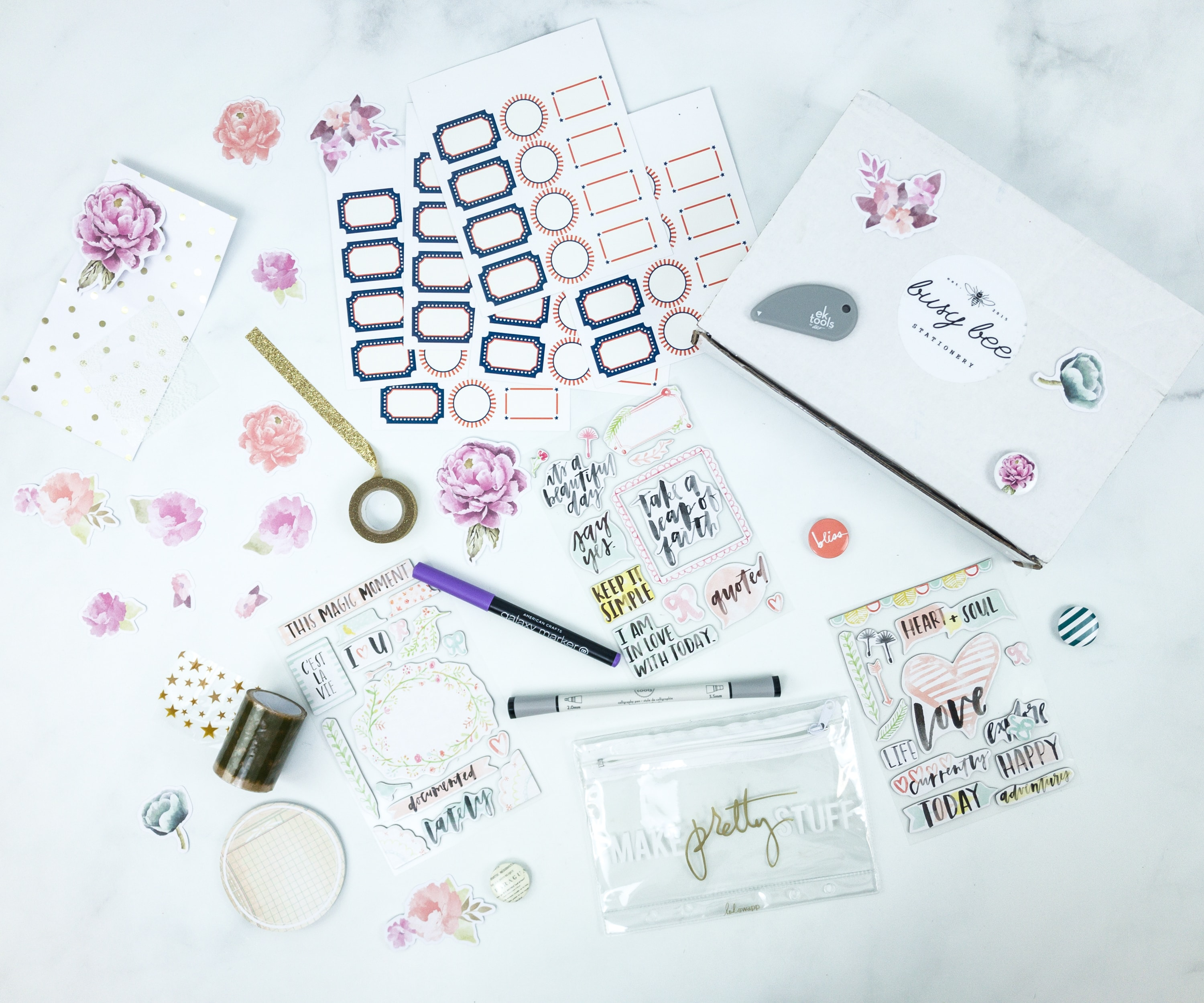 Busy Bee Stationery June 2019 Subscription Box Review