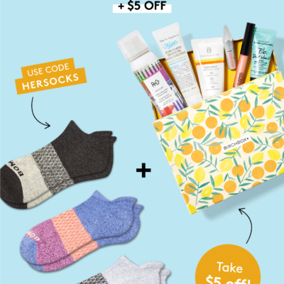 Birchbox Coupon: Get $5 Off + FREE Bombas Socks!