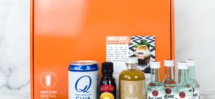 American Cocktail Club June 2019 Subscription Box Review + Coupon
