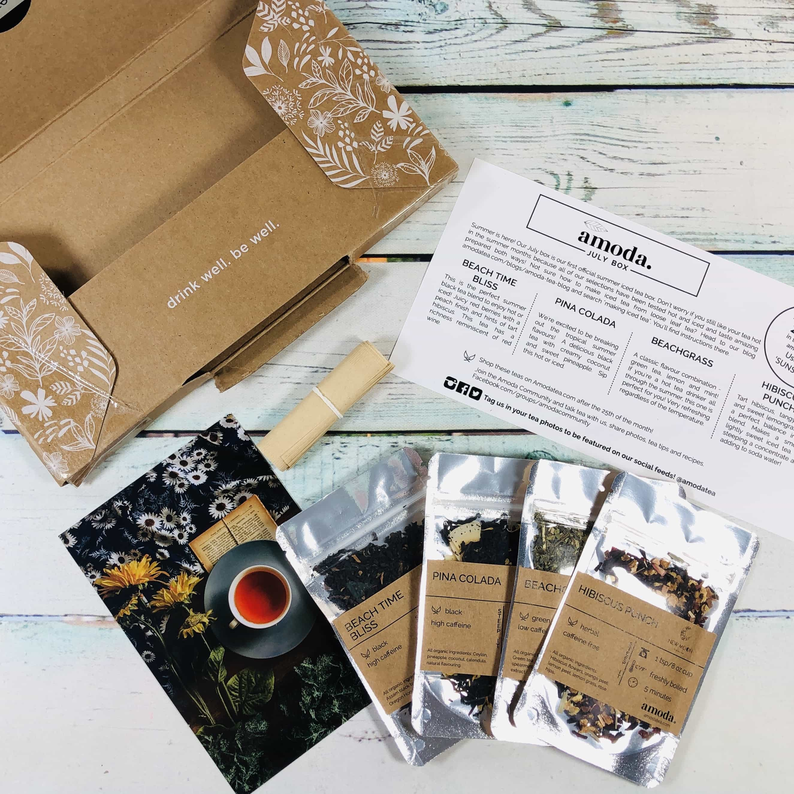 Amoda Tea July 2019 Subscription Box Review + Coupon!