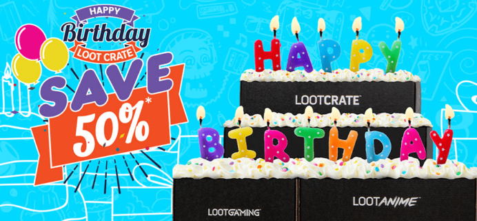 Loot Crate Birthday Sale: Get Up To 50% Off on Select Crates!