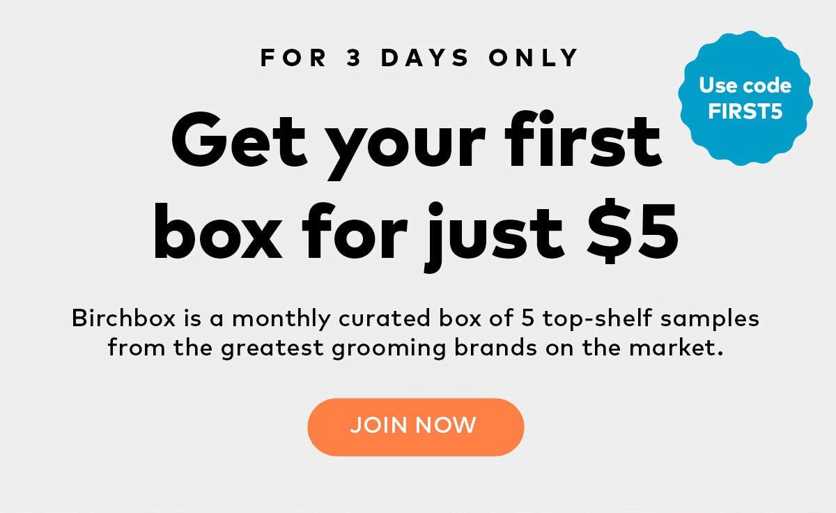 Birchbox Man Coupon: Get Your First Box For Just $5!