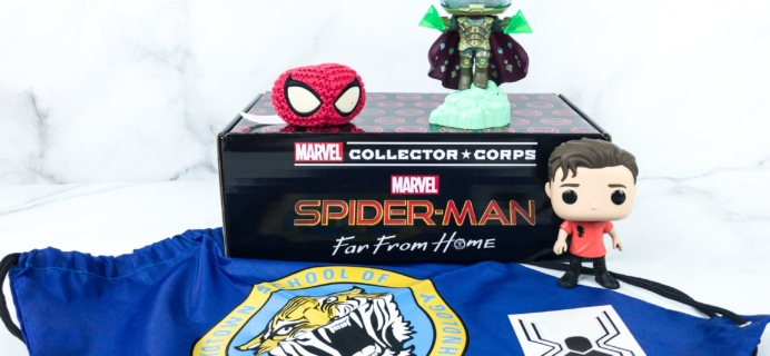 Marvel Collector Corps July 2019 Subscription Box Review – Spiderman Far From Home! Again