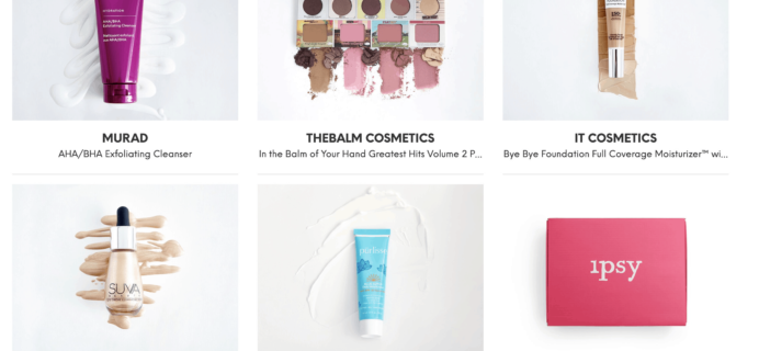 Ipsy August 2019 Glam Bag Plus Full Spoilers + Reveals Available Now!