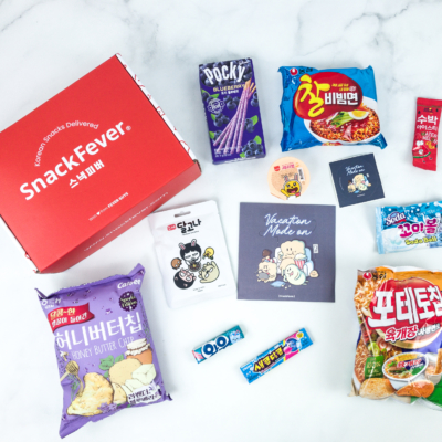 July 2019 Snack Fever Subscription Box Review + Coupon – Original Box!
