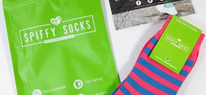 Spiffy Socks August 2019 Subscription Box Review  + Coupon