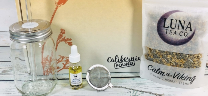 California Found July 2019 Subscription Box Review + Coupon