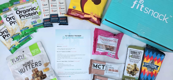 FitSnack July 2019 Subscription Box Review & Coupon