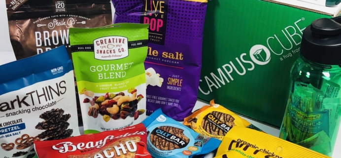 CampusCube College Care Package September 2019 Snacks & Essentials Box Review+ Coupon!