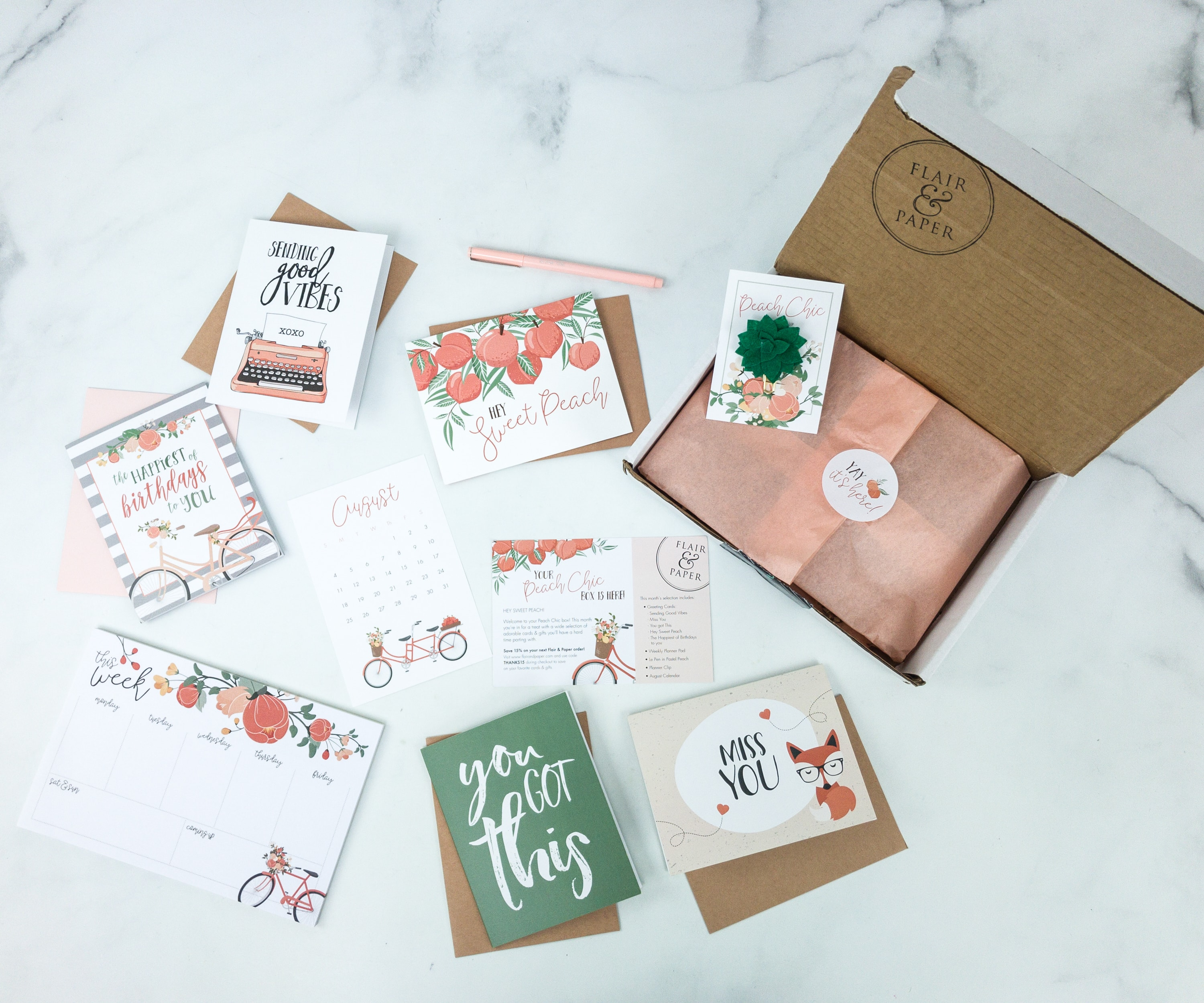 Flair and Paper August 2019 Subscription Box Review & Coupon
