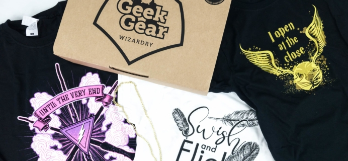 Geek Gear World of Wizardry Wearables July 2019 Subscription Box Review & Coupon