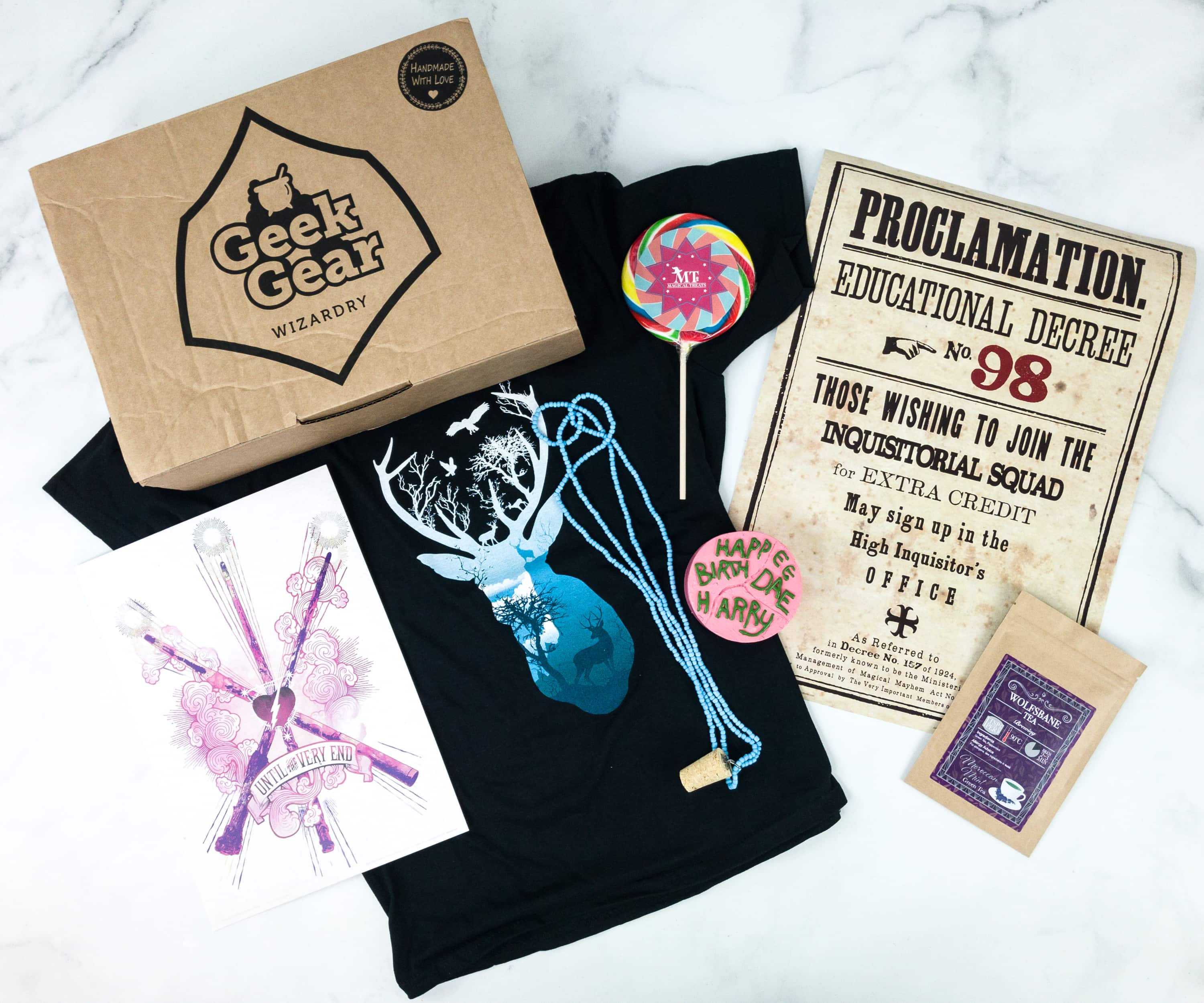 Geek Gear World of Wizardry July 2019 Subscription Box Review & Coupon