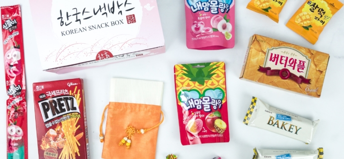 Korean Snack Box August 2019 Subscription Box Review + Coupon