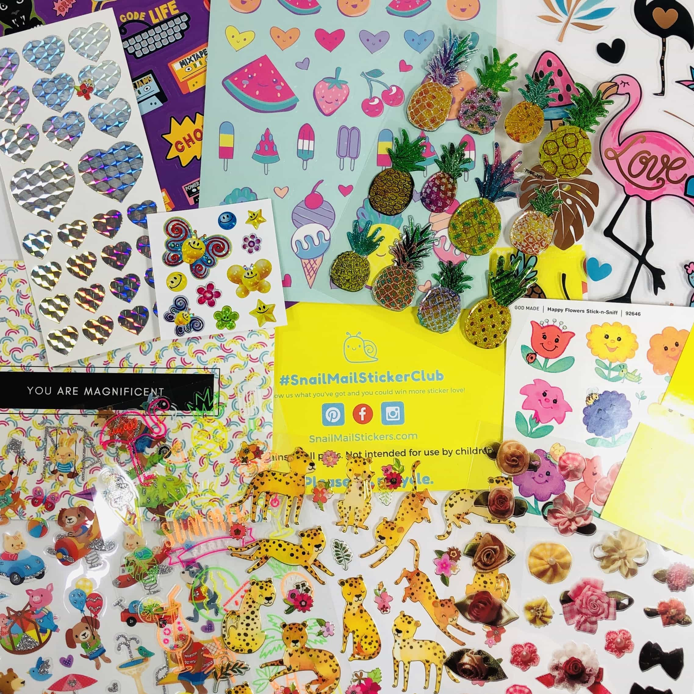 Snail Mail Sticker Club August 2019 Subscription Box Review + Coupon