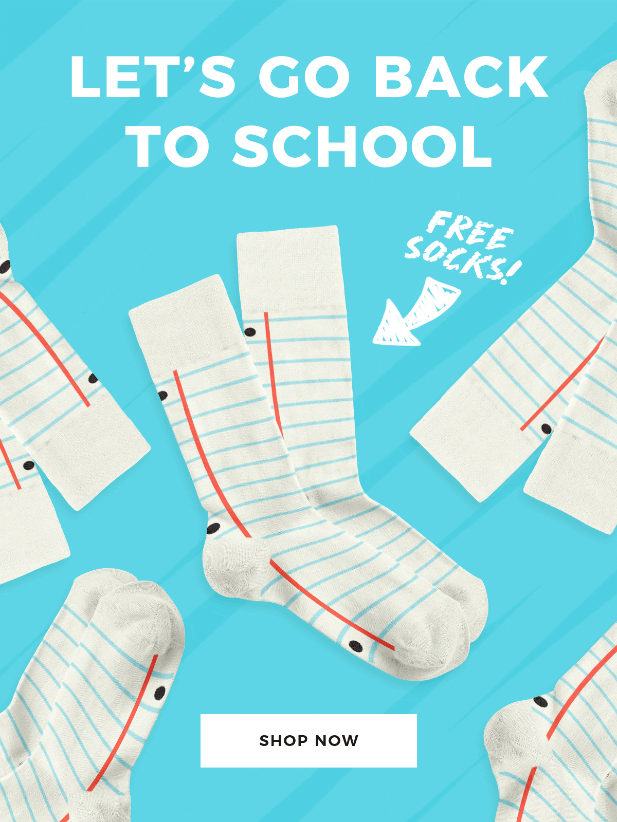 Sock Fancy Back To School Coupon: FREE Limited Edition Notebook Socks!