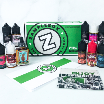 Zamplebox E-Juice August 2019 Subscription Box Review + Coupon!