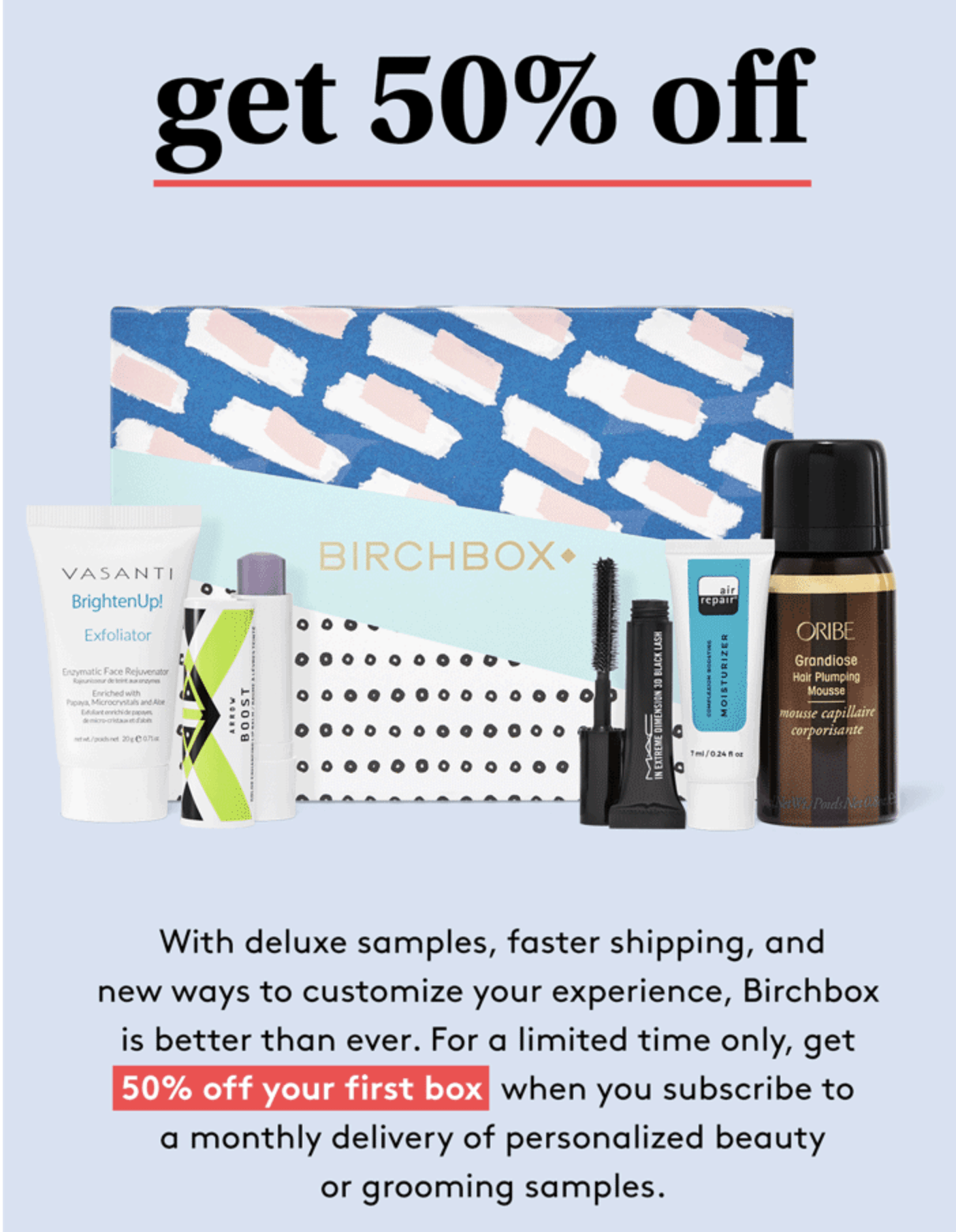 Birchbox Coupon: Get Your First Box 50% Off!
