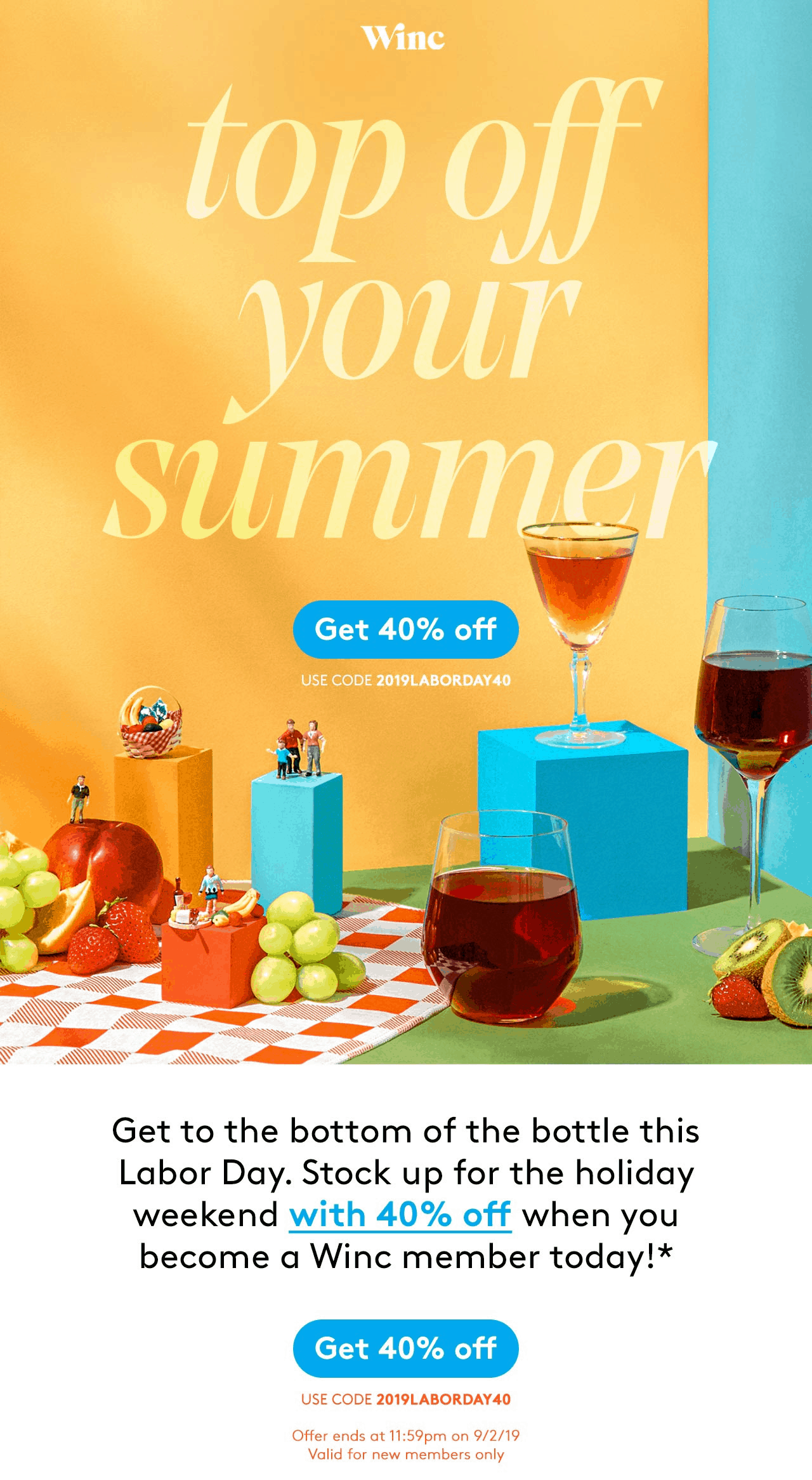 Winc Labor Day Sale: Get 40% Off!