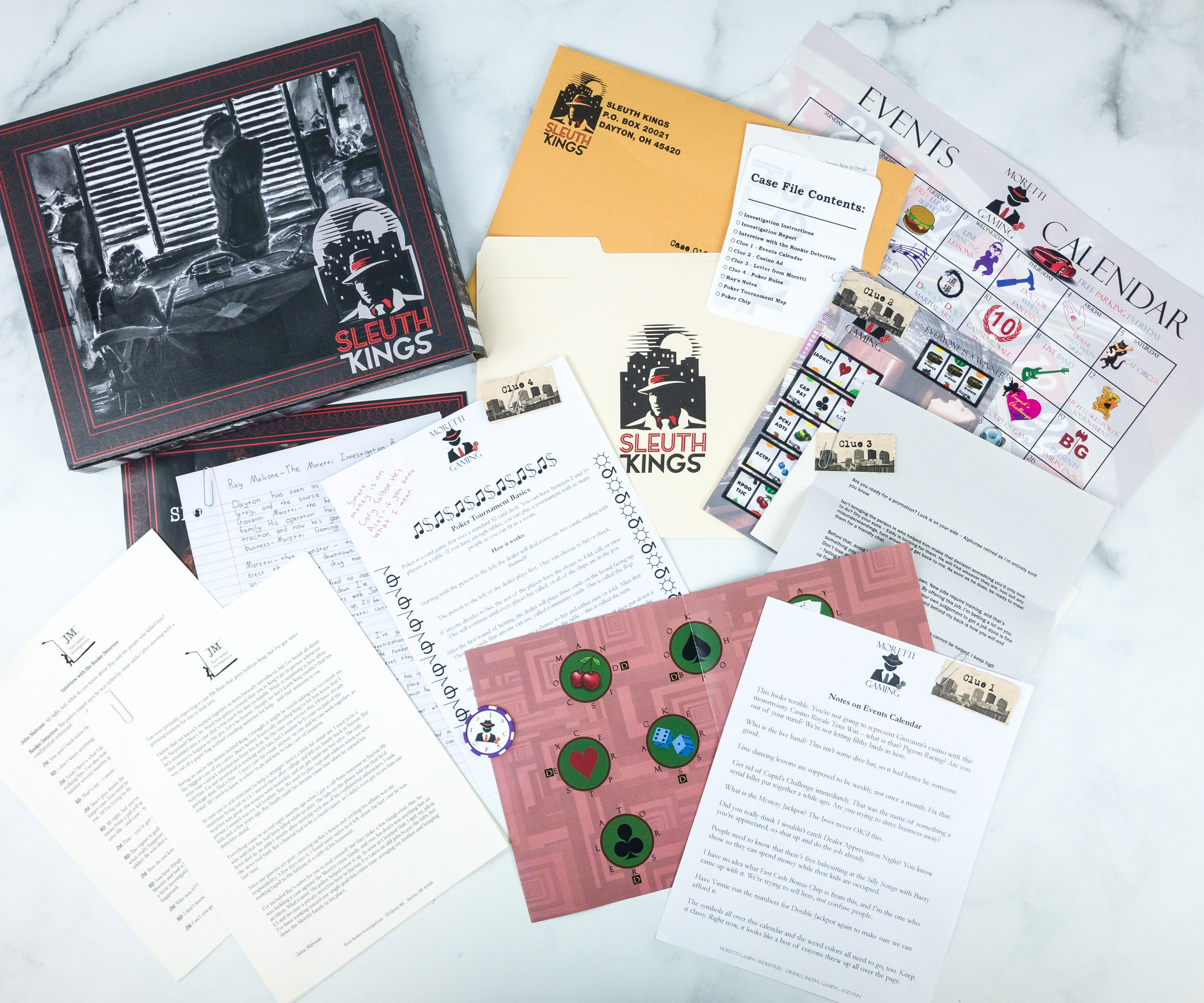 Sleuth Kings Subscription Box Review + Coupons – Case 019 My Brother's Reaper