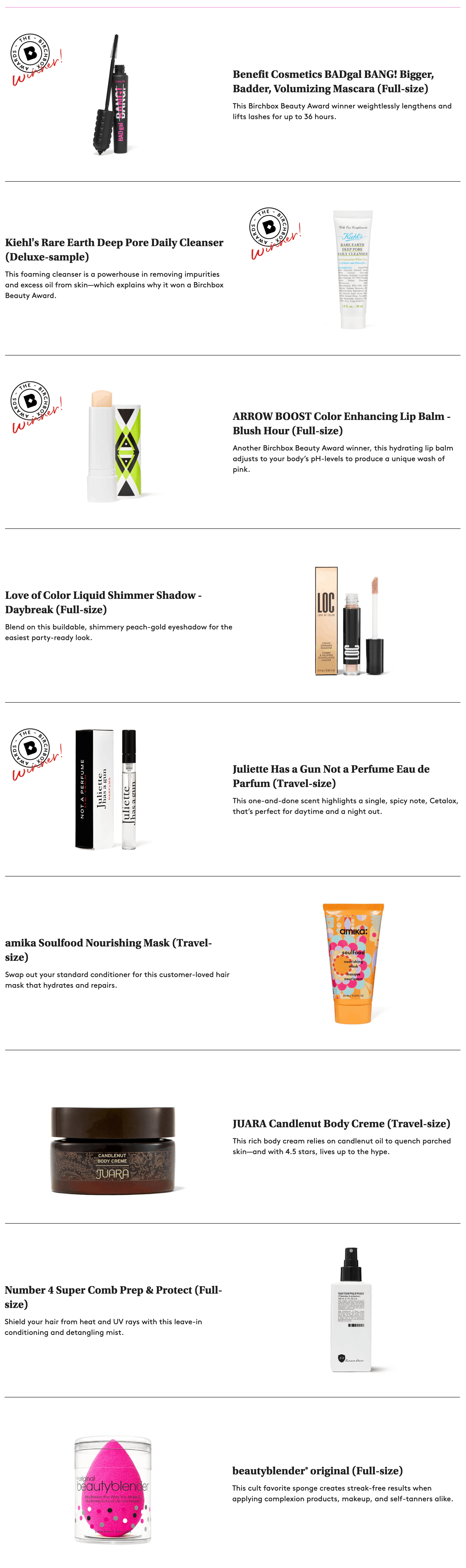 Birchbox Favorites Limited Edition Box Available Now – FULL Spoilers!