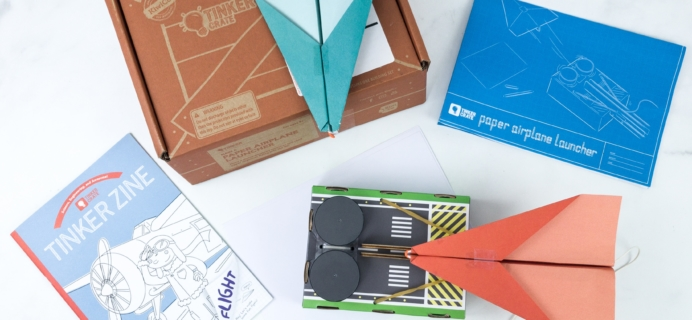 Tinker Crate Review & Coupon – PAPER AIRPLANE LAUNCHER