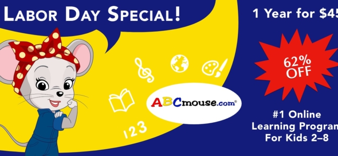 ABCmouse Labor Day Sale: Get 1 Year of ABCmouse for $45 – 62% Off!
