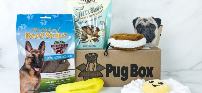 Pug Box August 2019 Subscription Box Review + Coupon!