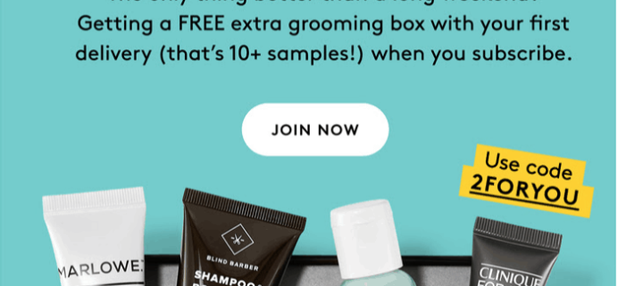 Birchbox Man Labor Day Sale: FREE Extra Grooming Box with Subscription!