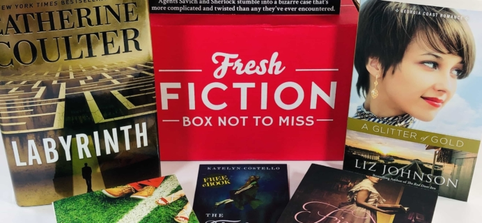 Fresh Fiction Box September 2019 Subscription Box Review + Coupon