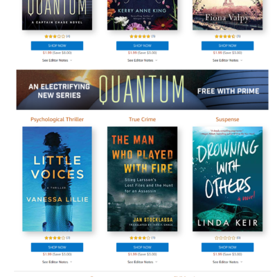 Amazon First Reads September 2019 Selections: 1 Book Free