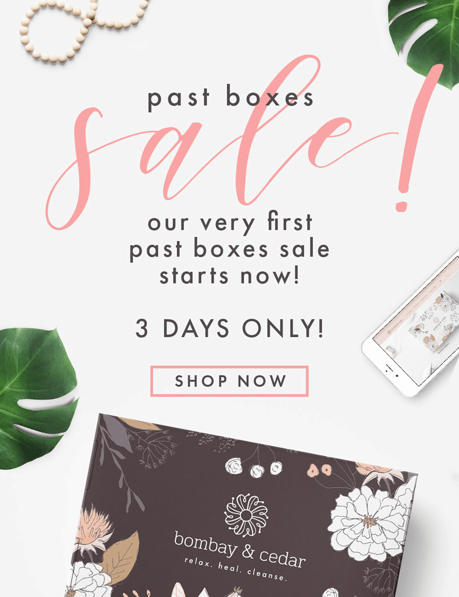 Bombay & Cedar Sale: Save Up To 70% On Past Boxes!