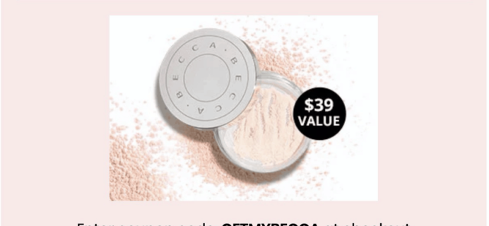 BOXYCHARM Coupon: FREE Becca Hydra-Mist Set & Refresh Powder! {RARE!}