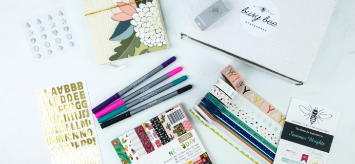 Busy Bee Stationery September 2019 Subscription Box Review