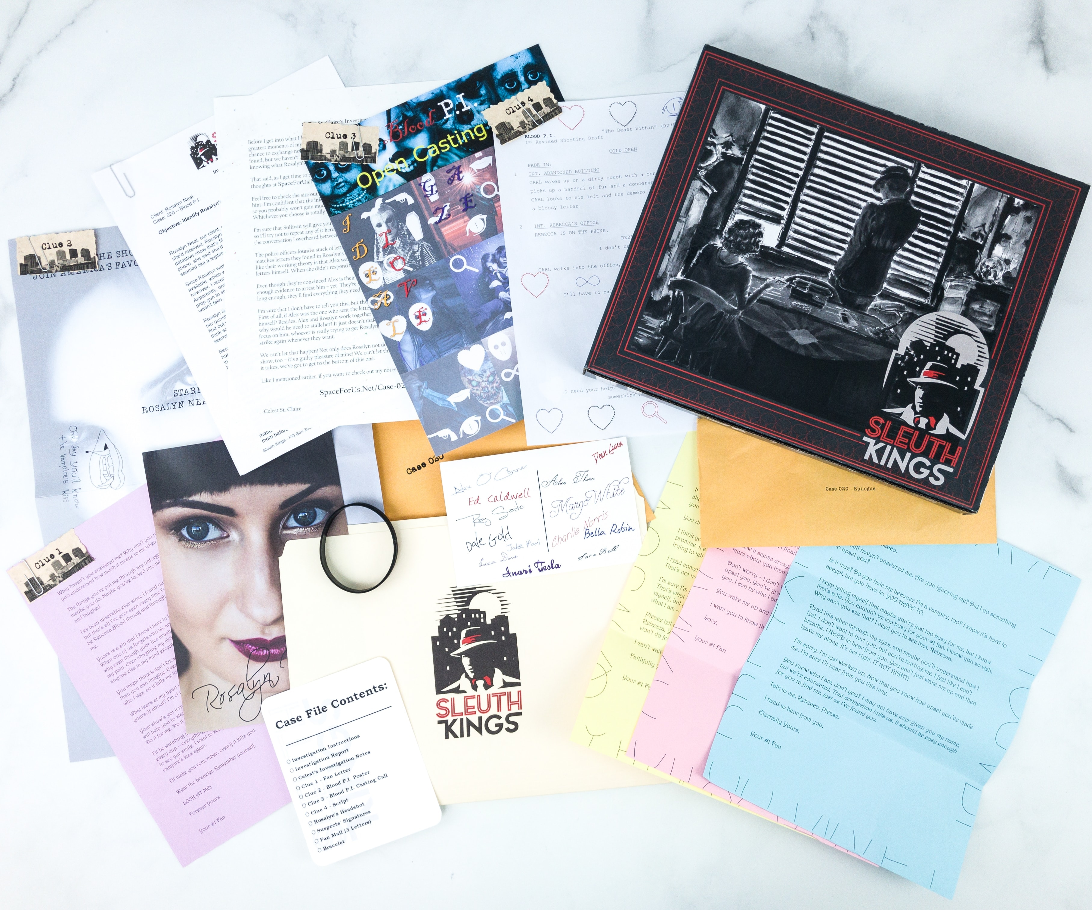 Sleuth Kings Subscription Box Review + Coupons – Case 020 Blood P.I.