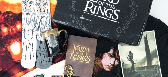 Loot Crate Limited Edition Lord Of The Rings Crate Review – Box 1