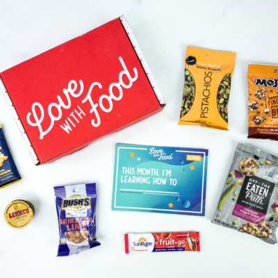 Love With Food September 2019 Tasting Box Review + Coupon!