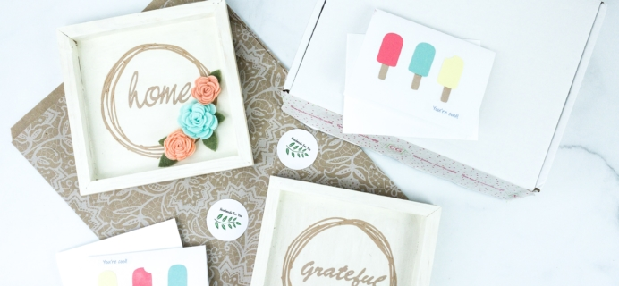 Confetti Grace Subscription Box Review + Coupon – FELT FLOWER WREATH